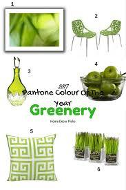 2017 pantone colour of the year greenery home decor picks