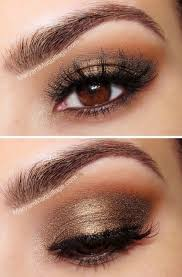 prom makeup for hazel eyes and blue dress brown