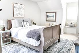 blue cottage style guest bedroom makeover reveal bless u0027er house