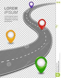 Blank Road Map Template by Road Way Navigation Infographic Highway Template With A Curvy Car