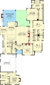 apartments house plans with mother in law wing best four bedroom