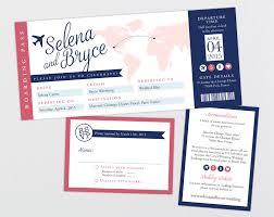 Map Wedding Invitations Destination Wedding Invitation Ticket Boarding Pass Wedding