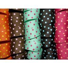 polka dot grosgrain ribbon 5 yards 1 5 offray colored polka dot grosgrain ribbon