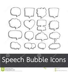 speech bubble hand drawn speech bubble hand drawn stock vector illustration of