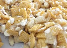white chocolate coconut almond chex mix