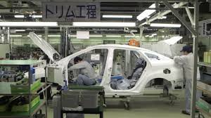toyota motor group inside the japanese toyota factory scene of automobile assembly