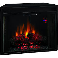 classicflame 28 inch electric fireplace insert with glass doors