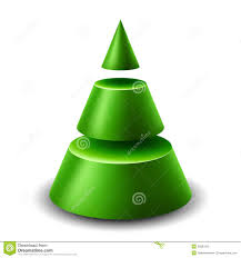 3d cone christmas tree royalty free stock image image 35867016