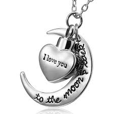 urn necklace for ashes aliexpress buy i you to the moon and back urn necklace