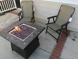 Patio Furniture With Gas Fire Pit by Hampton Bay 50 000 Btu 30 In Cross Ridge Outdoor Gas Fire Pit