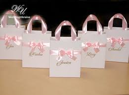 bridal party gift bags baby pink brides gift bag personalized bridal by weddingukraine