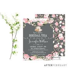 bridal tea party invitation wording bridal tea party invitations and like this item bridal tea party