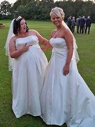 bridal register two brides same dress same registry office same day telegraph