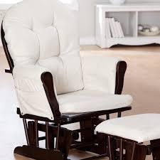 Rocking Chair Glider For Nursery Storkcraft Bowback Glider And Ottoman Set Cherry Beige Hayneedle