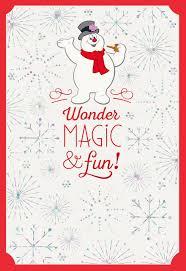 frosty snowman magic u0026 fun christmas card greeting