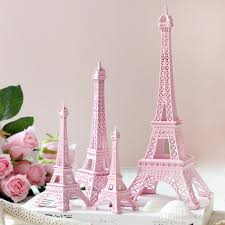 eiffel tower decorations 2015 new pink 3d eiffel tower model alloy eiffel tower metal