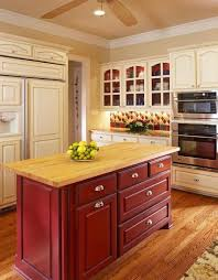 paint kitchen island stained or painted kitchen island bernier designs