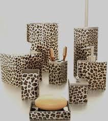 Animal Print Bathroom Ideas Cheetah Bathroom Accessories Sets For Attractive Look Animal