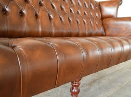 used chesterfield sofa barber leather chesterfield sofa abode sofas