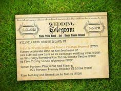 Telegram Wedding Invitation 10 X Personalised Vintage Telegram Wedding Invitations Rsvp