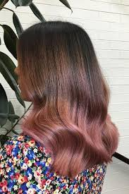 rose gold lowlights on dark hair 35 sparkling brilliant rose gold hair color ideas