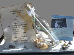 wedding invitations in a bottle message in a bottle wedding invitations casadebormela