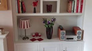 diy fitted built in alcove unit cabinet cupboard bookshelves in