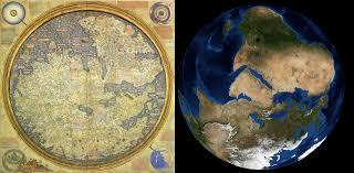 Sattelite World Map by File Fra Mauro World Map Satellite Comparison Jpg Wikimedia Commons