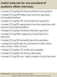 Examples Of Academic Resumes by Top 8 Vice President Of Academic Affairs Resume Samples