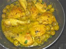 cuisine marocaine poulet aux olives recette tajine de poulet aux olives léger 750g