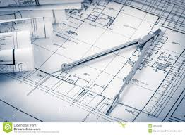 rolls of architecture blueprints stock illustration image 53190093