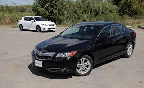 lexus ct200h 2013 2013 lexus ct200h vs 2013 acura ilx hybrid car reviews