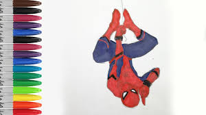 spiderman side coloring pages spiderman homecoming