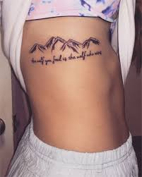Pictures Of Tattoos On The - best 25 mountain tattoos ideas on mountain outline