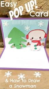 easy snowman pop up card red ted art u0027s blog