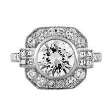 platinum art deco style 2 34 carat diamond engagement ring boca raton