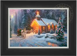 christmas chapel i u2013 limited edition art the thomas kinkade company