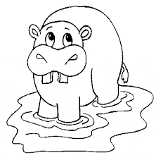 hippopotamus hippo coloring animals town free