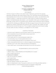 Logistics Job Description Resume by Quality Coordinator Resume Sales Coordinator Lewesmr