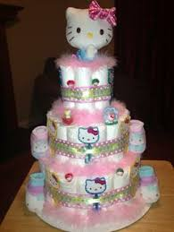 kitty sanrio diaper cake ingredients 50 pcs size 1