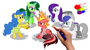inside out mlp edition my little pony coloring book coloring pages