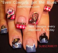 robin moses nail art cowgirl nails red and blue nail western