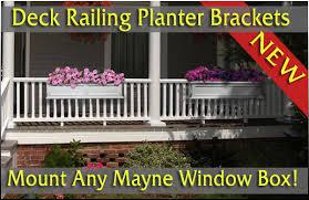 adjustable deck railing planter brackets railing planter railing