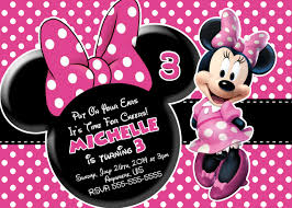 minnie mouse birthday invitations templates ideas all