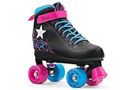 roller skates with flashing lights sfr vision ii light up kids quad roller skates black pink blue