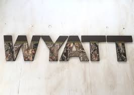 Camo Bedroom Decor by Camo Nursery Letters Camo Wood Letters Camo Name