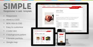 simple v card template by mutationthemes themeforest