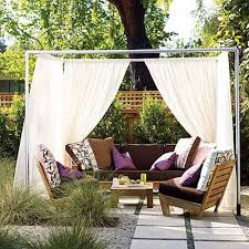Sunshade Awning Gazebo 20 Diy Outdoor Curtains Sunshades And Canopy Designs For Summer