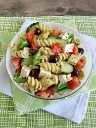 vanilla u0026 spice greek pasta salad with tofu feta