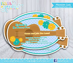 luau invitations ukulele luau invitations boy hawaiian invitation invites birthday